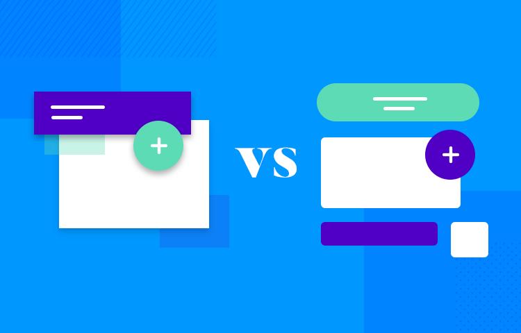 Flat design vs. Material Design - paper vs. 2D