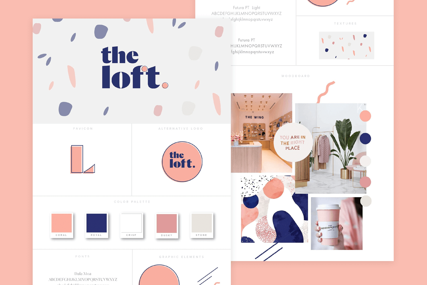 Website mood board examples - The female entrepreneur