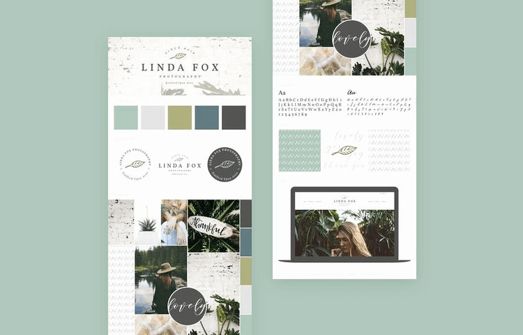 Website mood board examples - Rustic shades