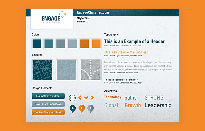 Website mood board examples - UI layout