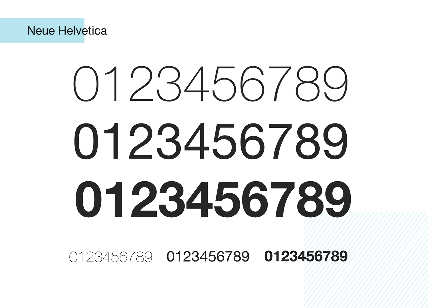 neue helvetica as classic number font - paid