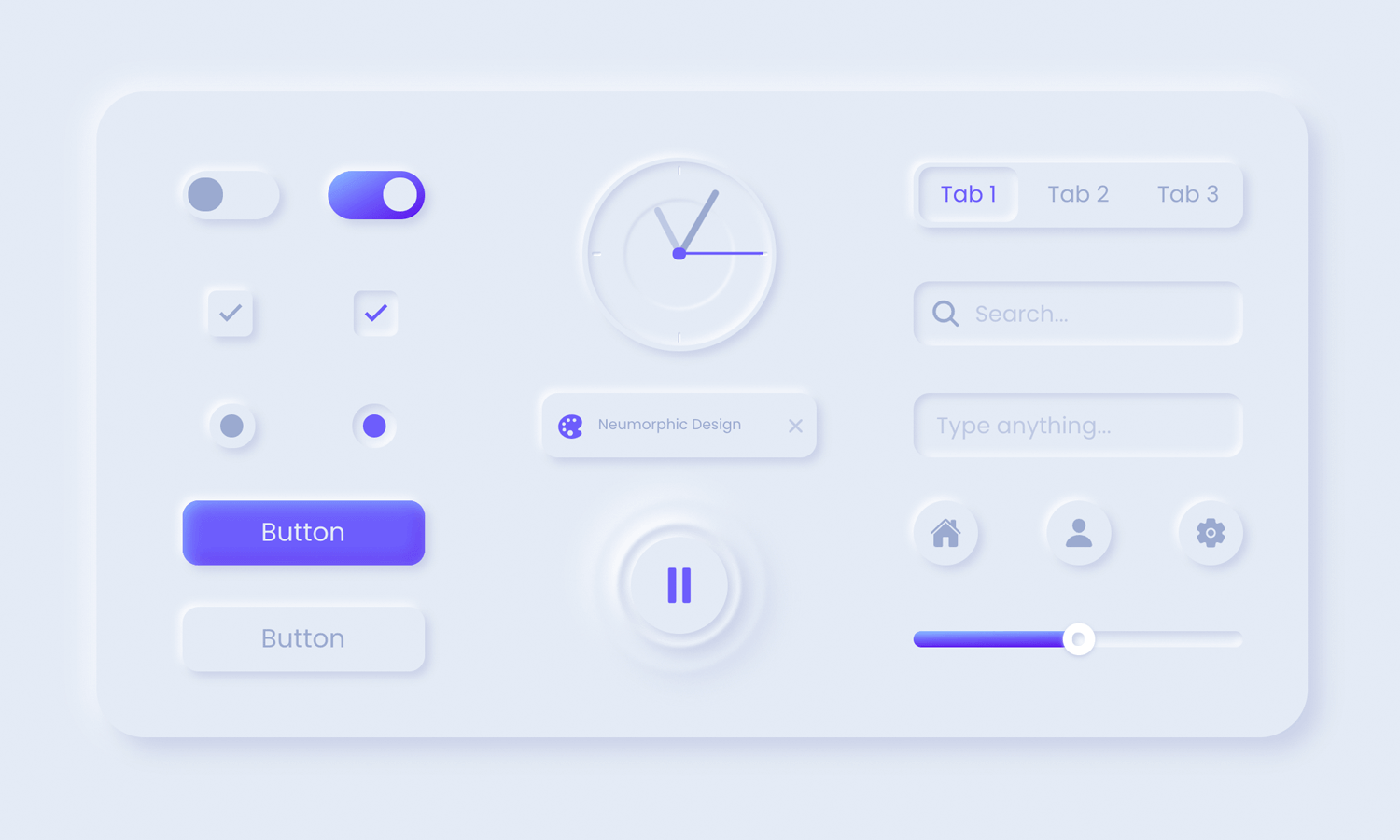 neumorphic elements free ui kit
