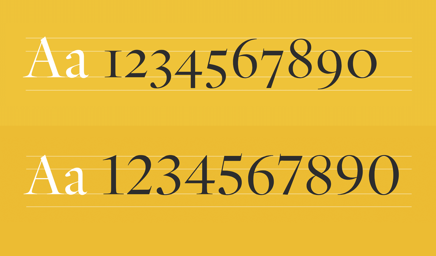 typefaces for both text and numbers