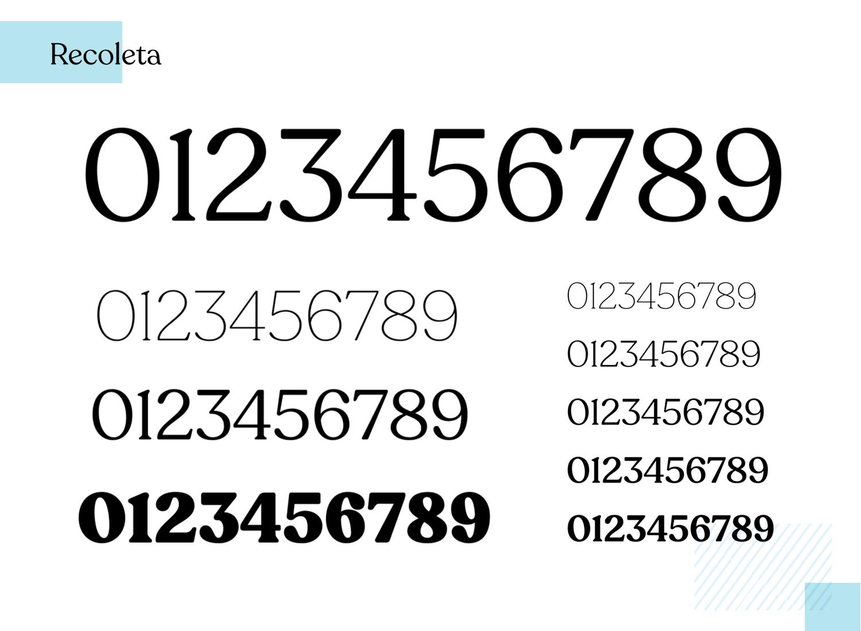 Best number fonts - Recoleta