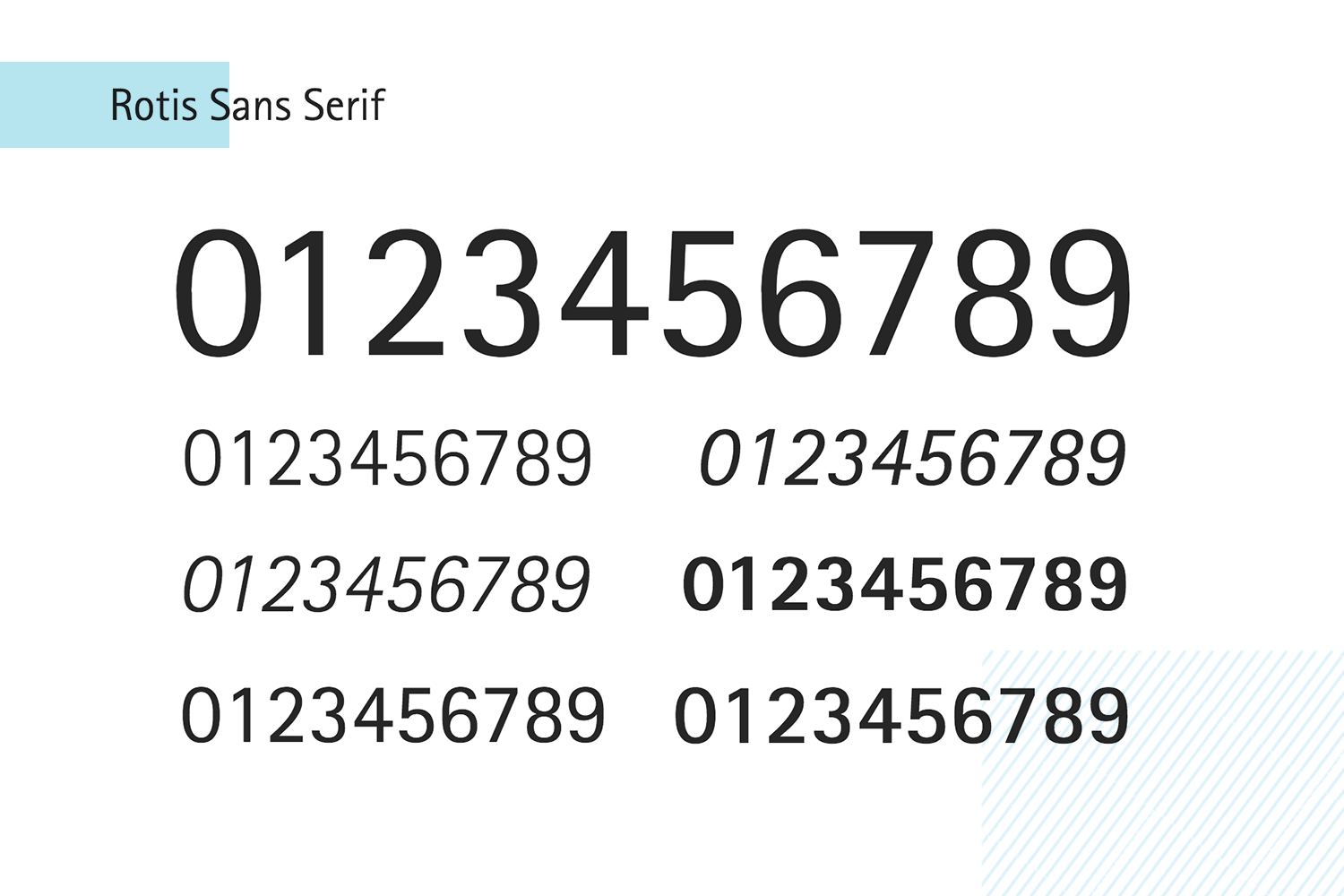 rotis sans serif as paid number font
