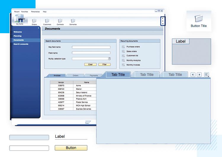 sap erp interface example