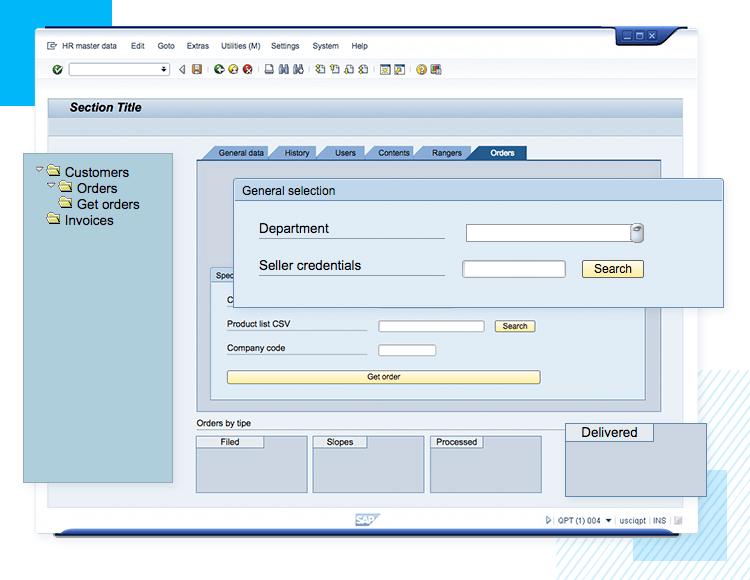 sap ui kit page example