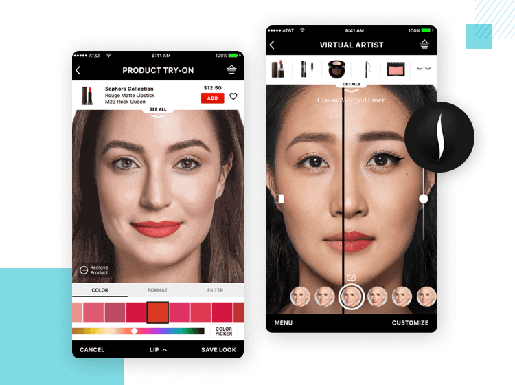 sephora - best app design with augmented reality