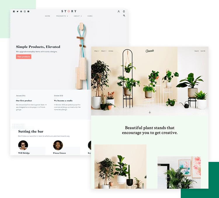 Shopify ui kit with components and visuals