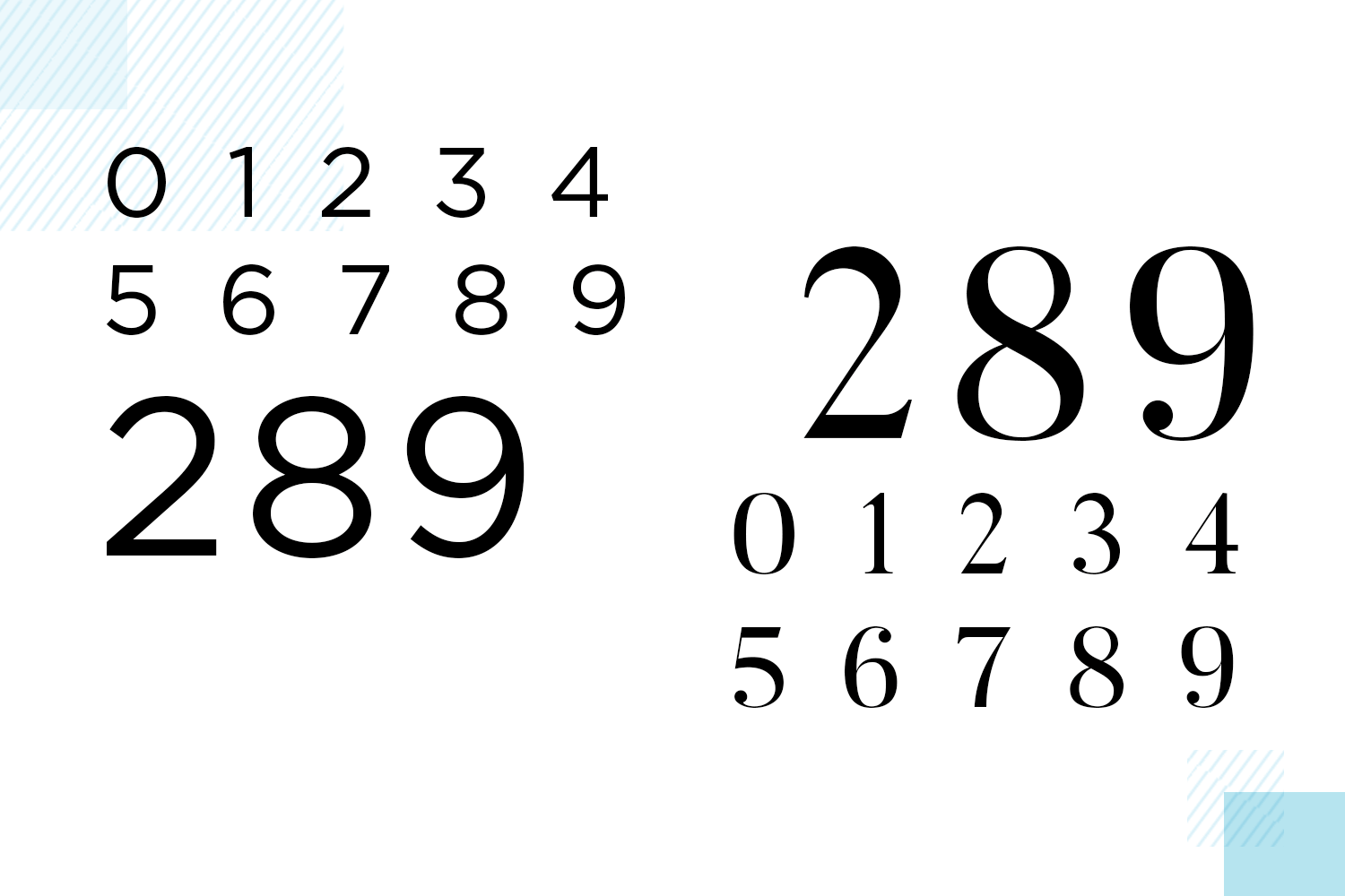 types of number fonts