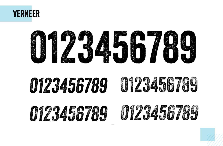 Best number fonts - Veneer