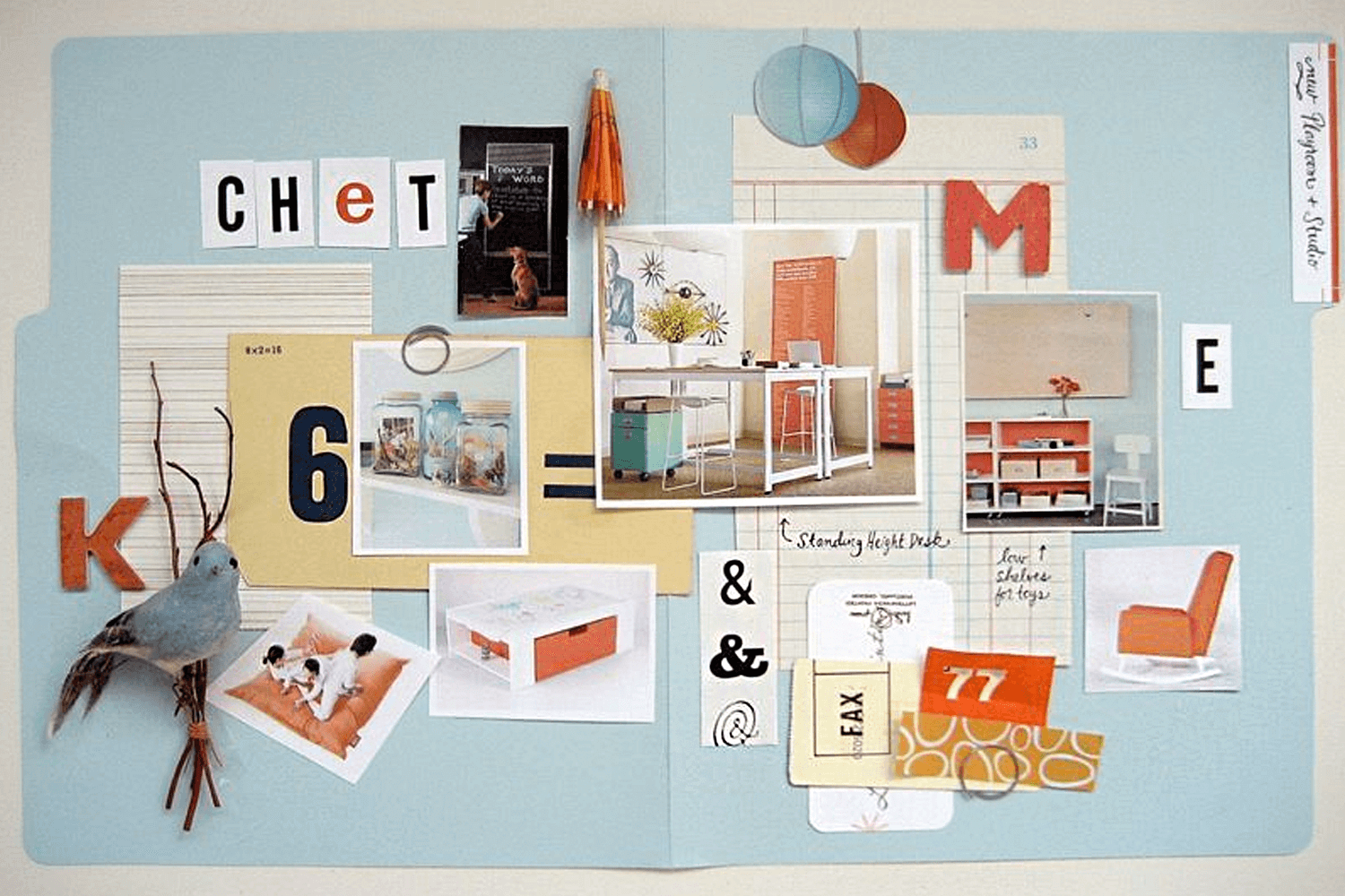 Physical mood board example