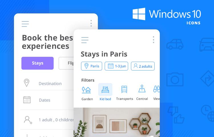 windows 10 icons ui kit pack