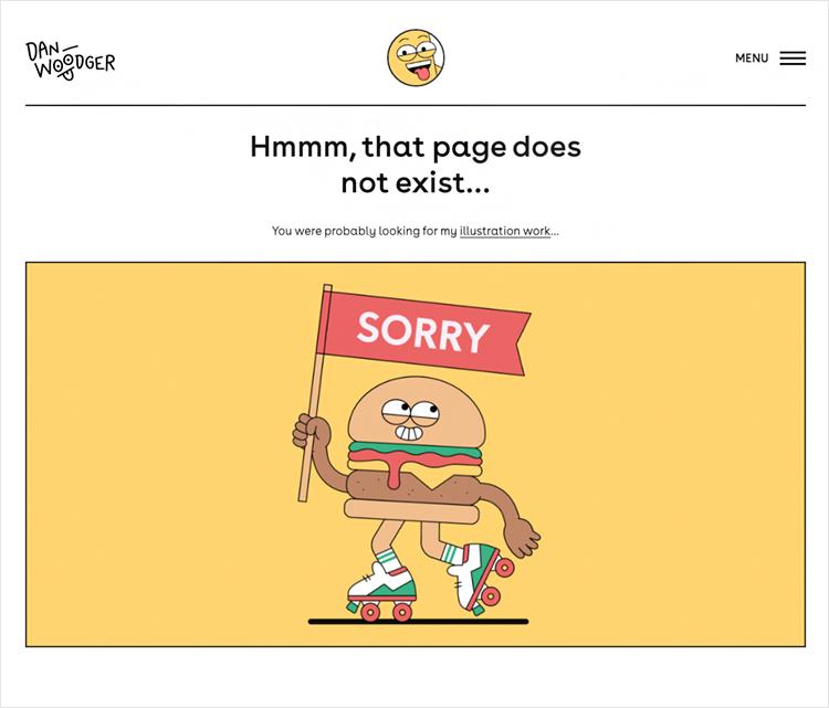 dan woodger as example of 404 design