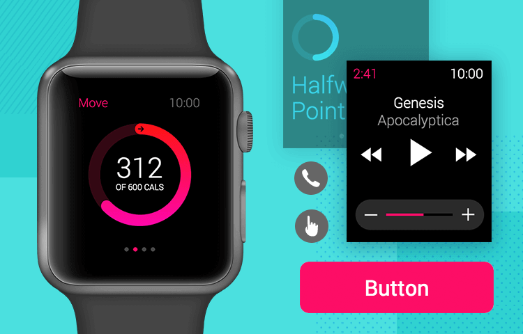 the free justinmind apple watch ui kit