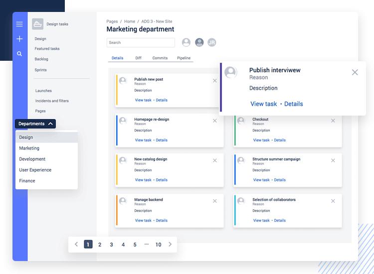 Atlaskit UI kit - project management UI example