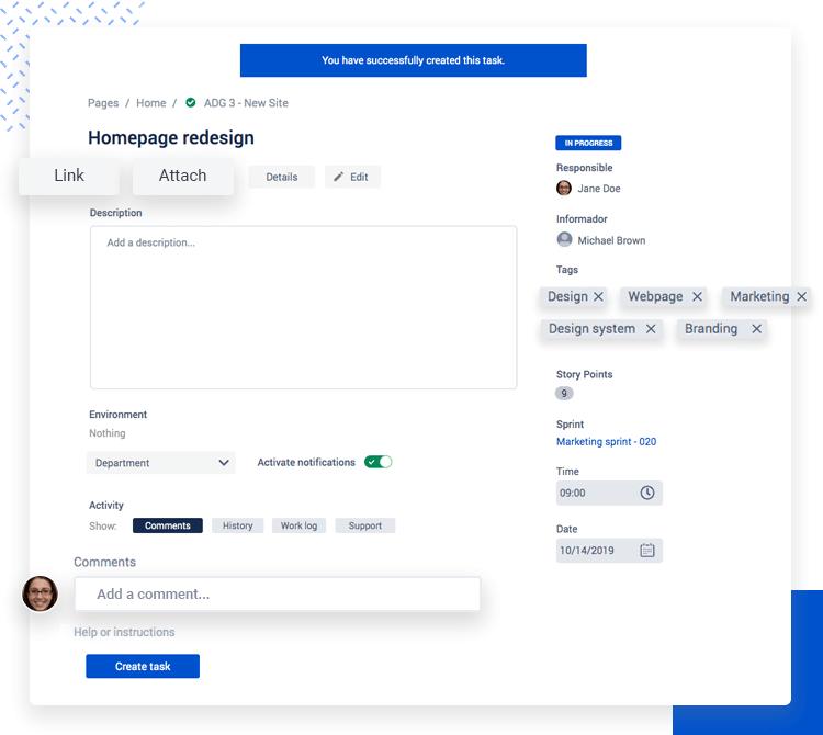 Atlaskit UI kit - task management UI example