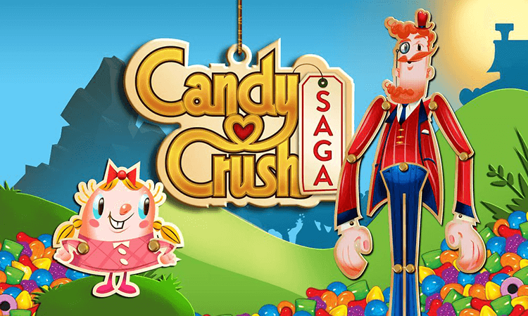 Mobile game UI design - Candy Crush splash page