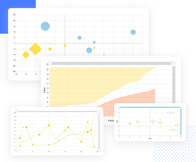Charts UI kit for dashboard design - XY and bubble