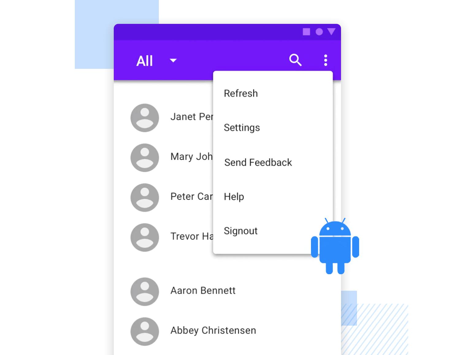 Drop down list design - Android Material Design