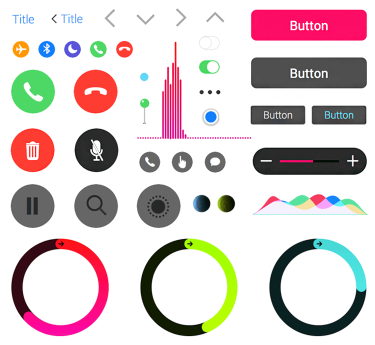 how the ui components are familiar to apple users