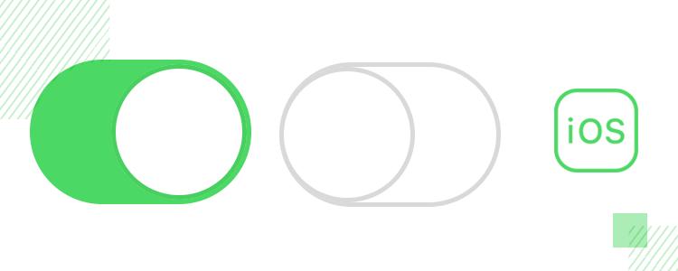 ios toggle design with the ui kit