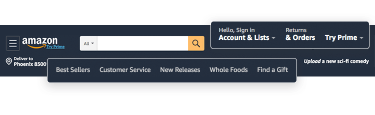 using dropdown menu design in navigation