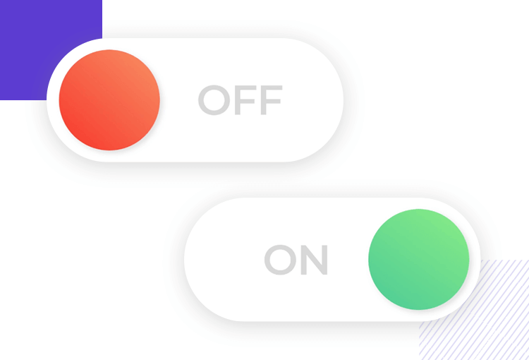 on and off switch design example