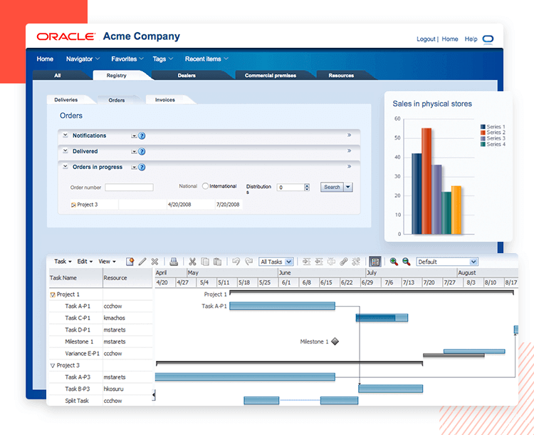 ORACLE Fusion UI kit - example 1 - drag and drop different components