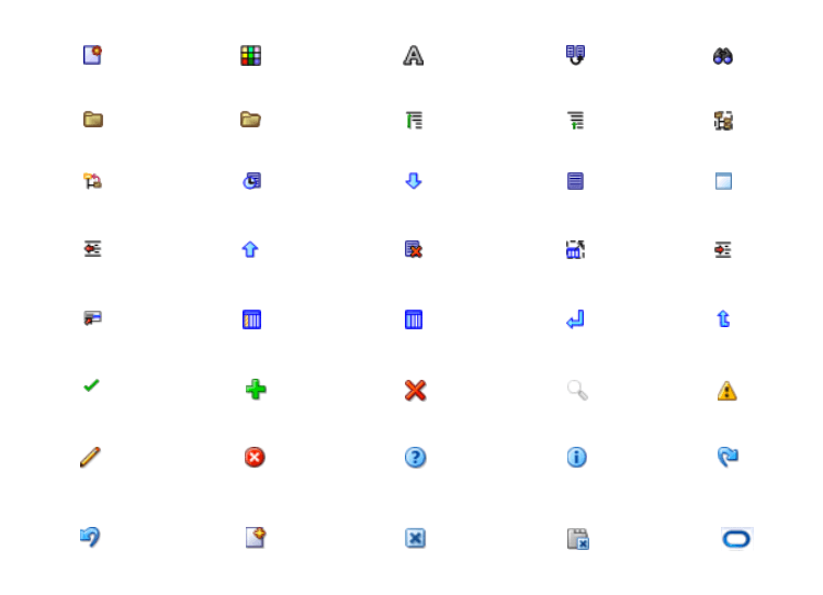 ORACLE Fusion UI kit - functional icons