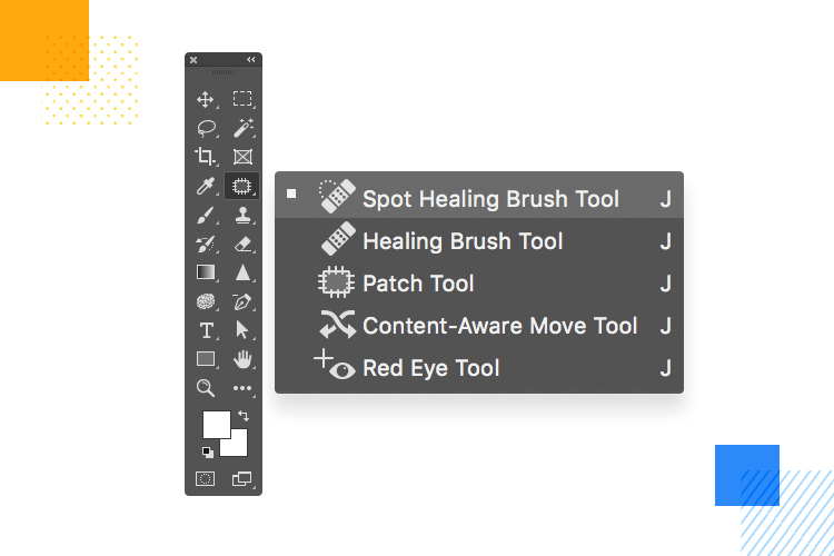 dropdown with action buttons - example from photoshop