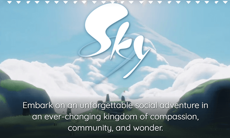 Mobile game UI design - Sky: Children of the Light, example of open world