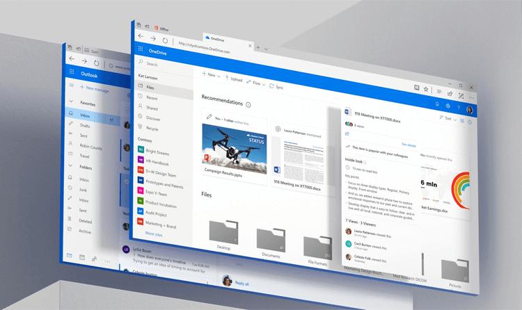 Windows 10 UI kit - Microsoft Fluent Design UI exampples