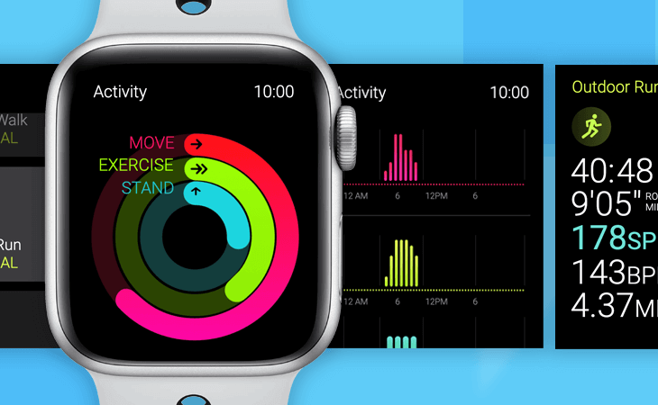 Prototype example - Apple Watch with Siri, Workout and Activity apps