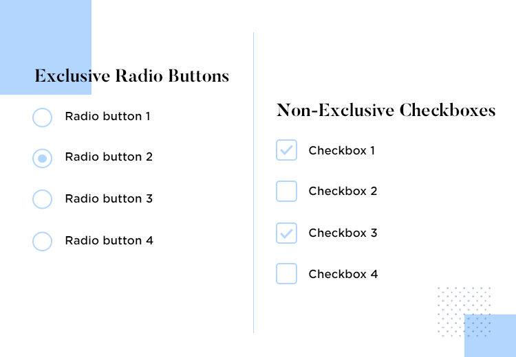 mental models in UI-UX design - radio buttons vs checkboxes