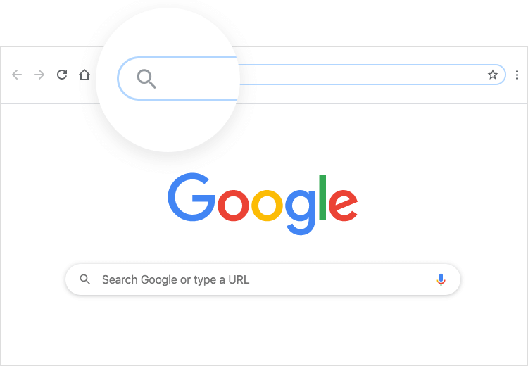 Mental models in UI-UX design - Google URL search bar