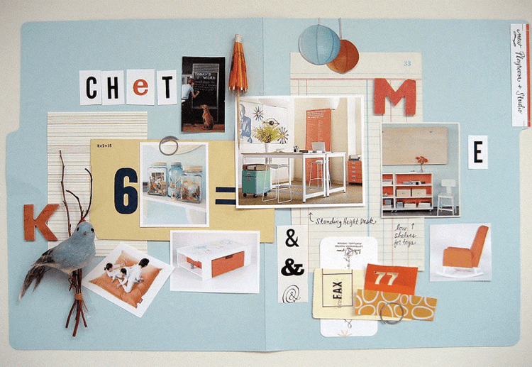 Visual storytelling- mood boards help define color scheme and subject matter