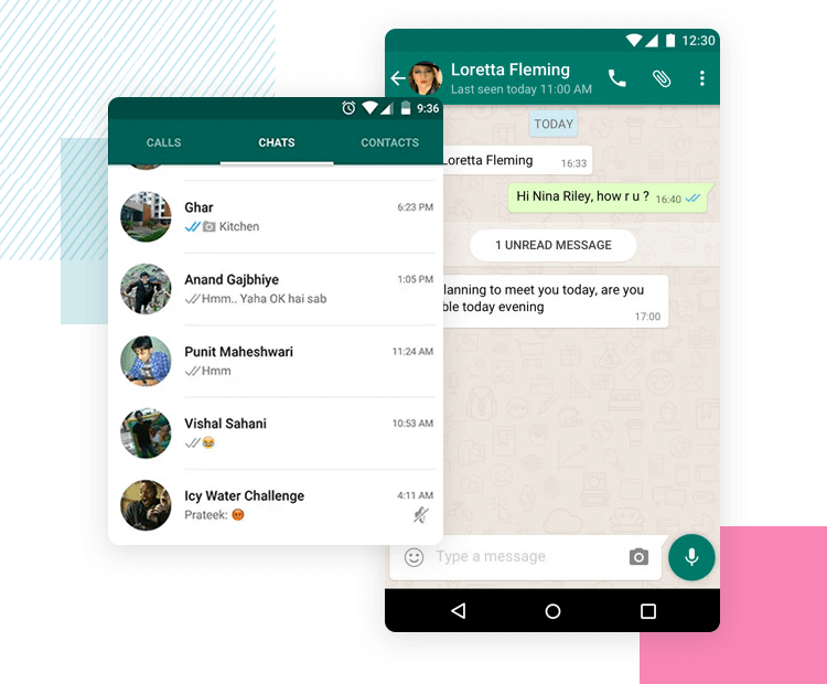 whatsapp ui as learnability example