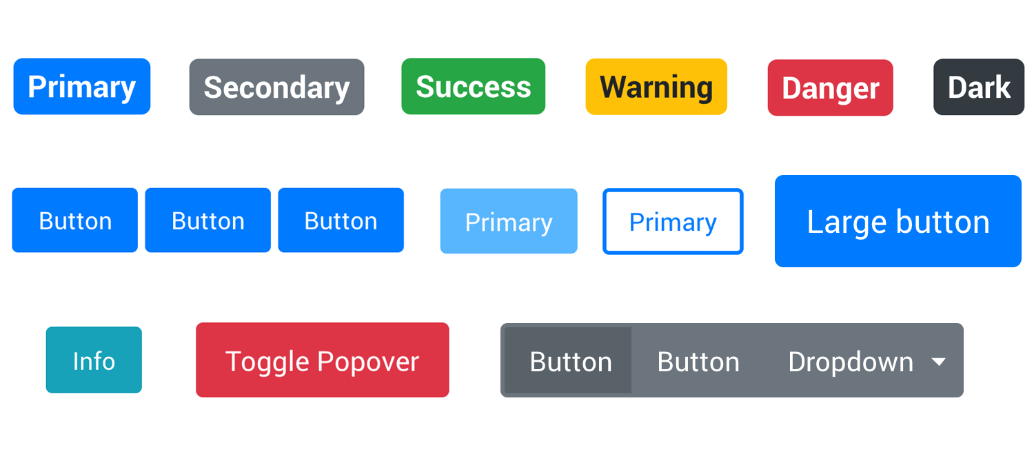 bootstrap ui kit for button design