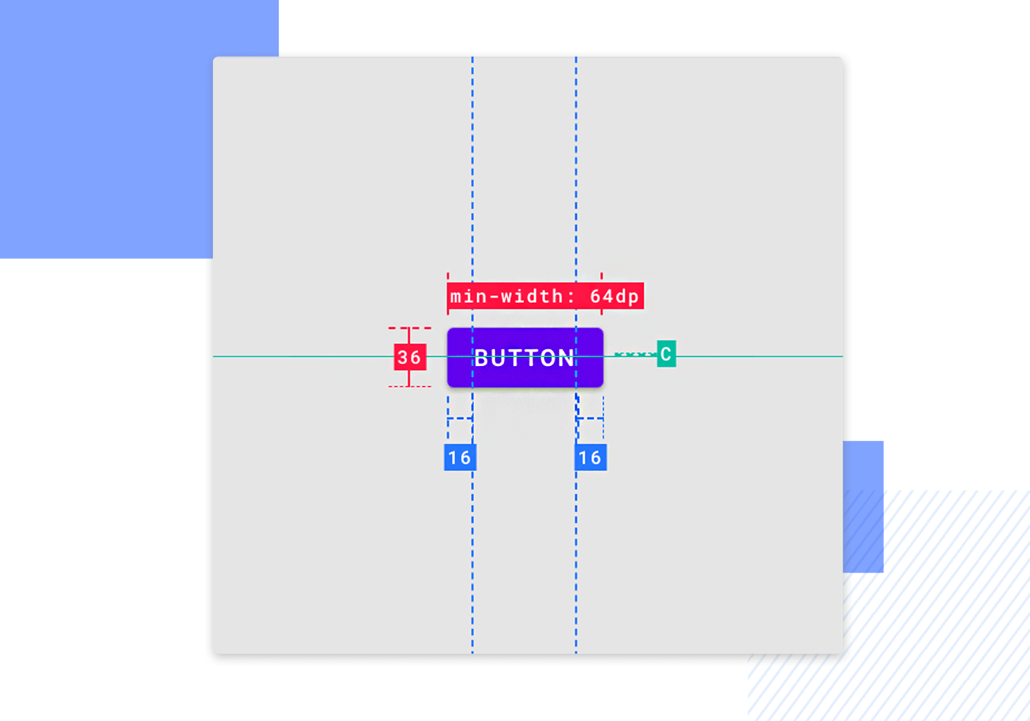 material design - minimum size requirements for buttons