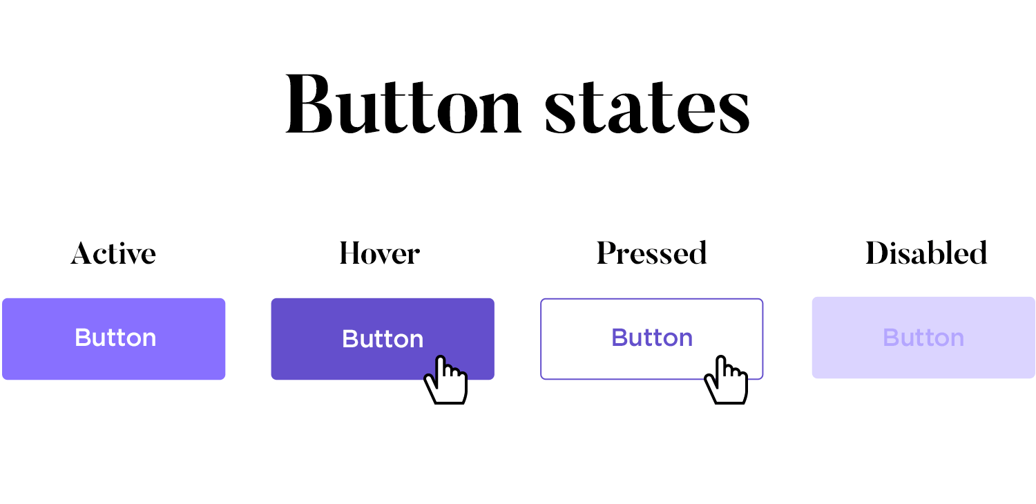 button state design in ui for interactivity