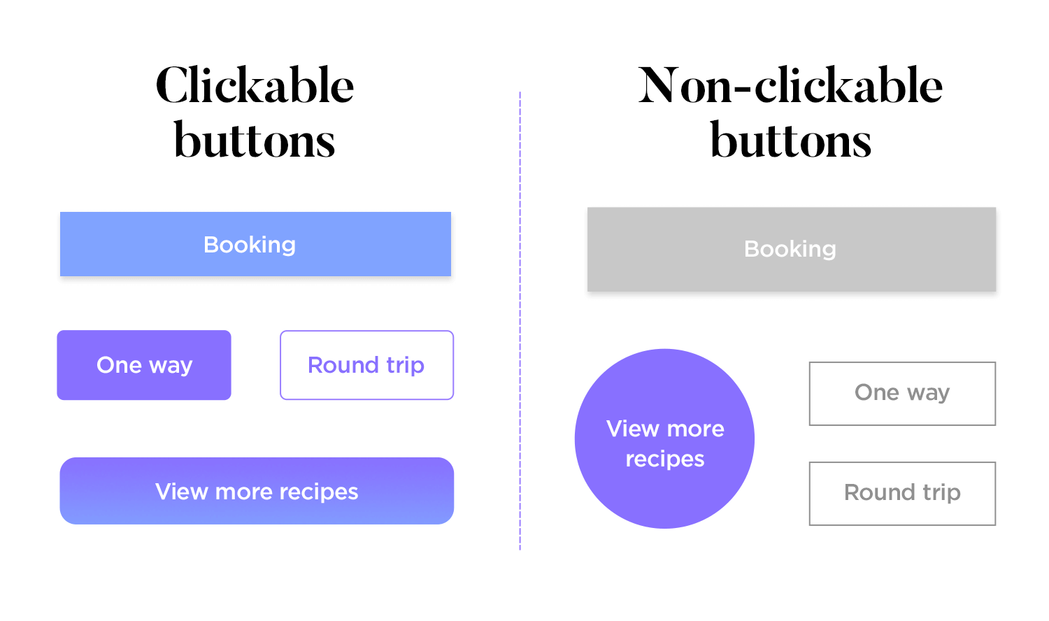 make buttons look clickable in the ui