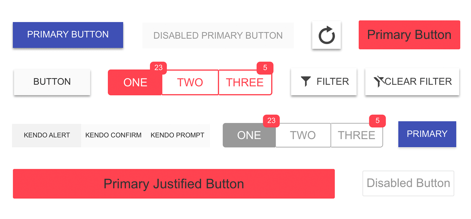 kendo ui kit buttons