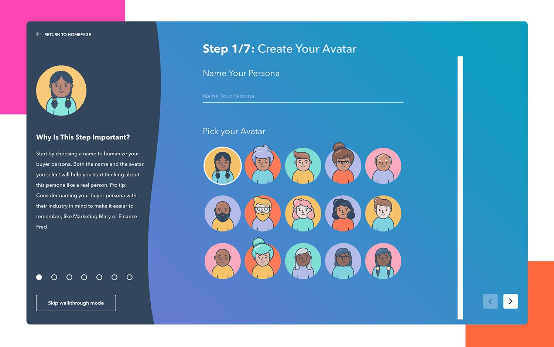 User persona generator - Hubspot