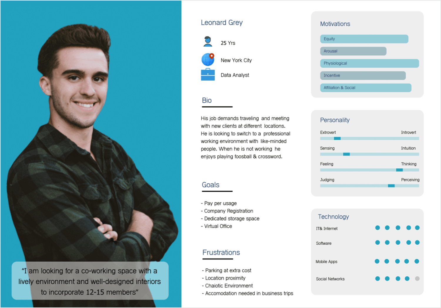 User persona templates - the data analyst