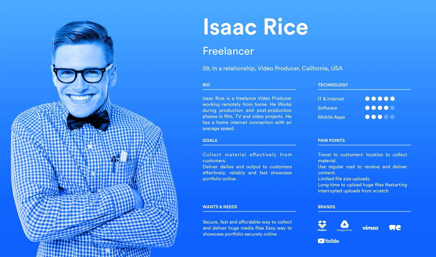 User persona templates - the freelancer