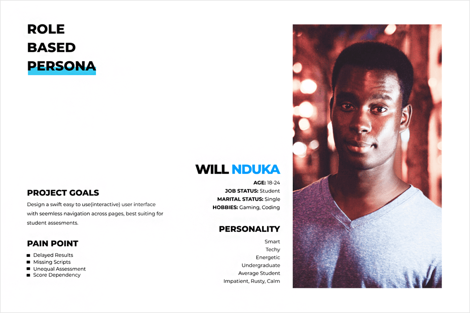 User persona template examples - lean and minimalist