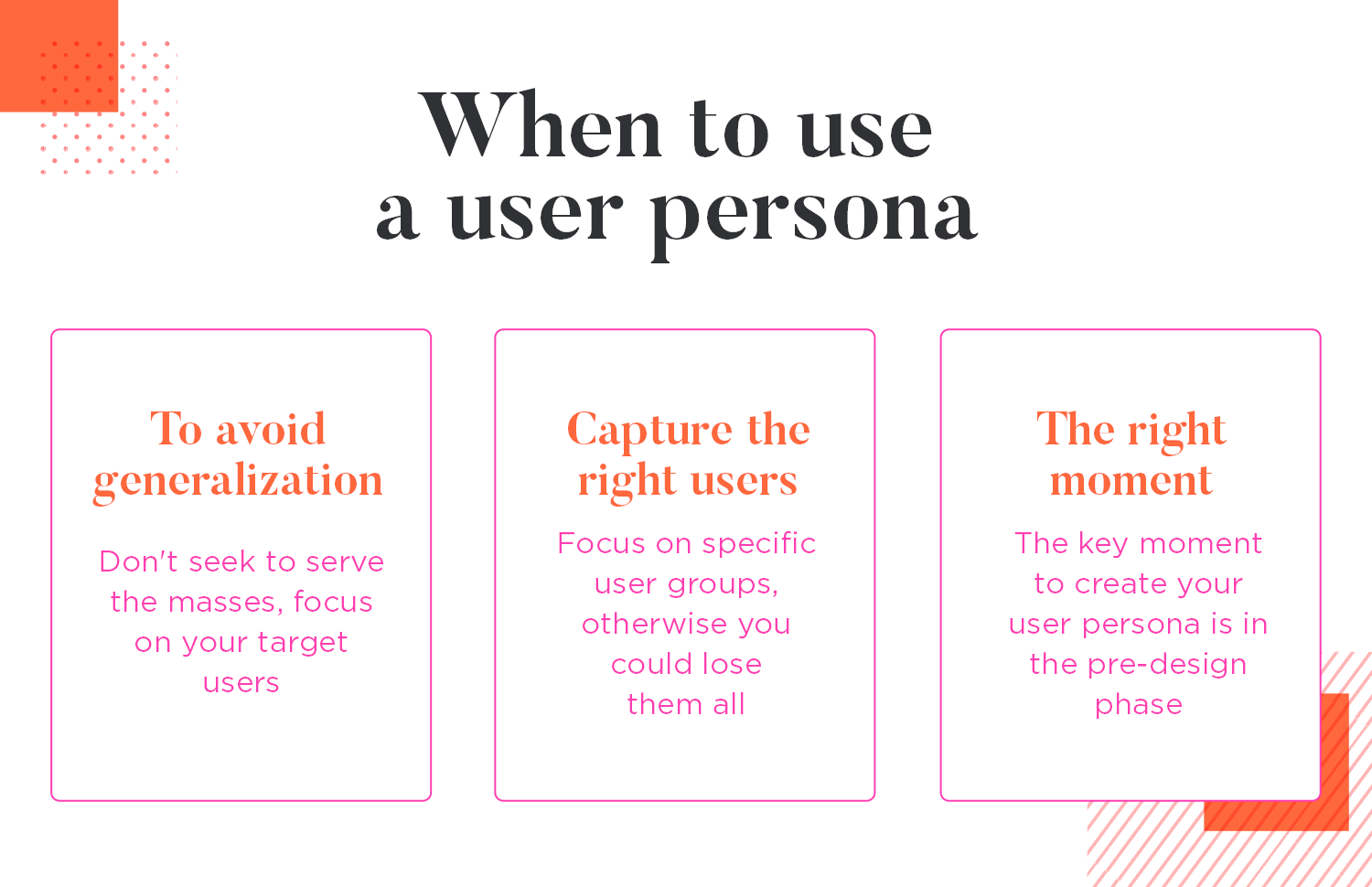 When to use a user persona