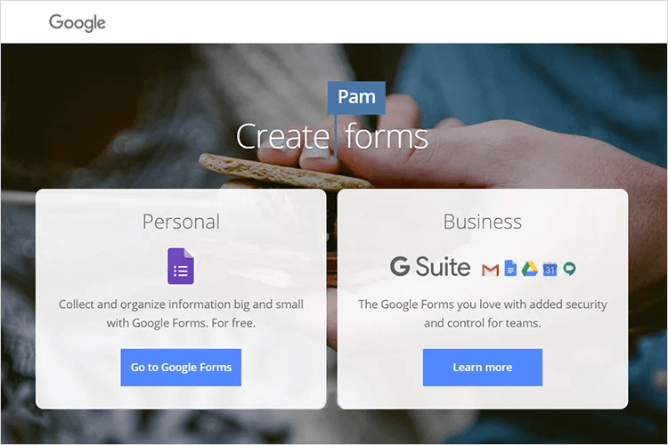 UX tools - Google Forms