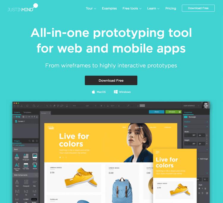 UX Tools Justinmind